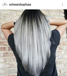 Silver Hair w/ Shadow Root