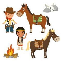 Decoloopio.com – sticker enfant : frise cowboys et indiens : Découpez, collezet mettez en scène les éléments de cette frisedeco sur le mur de sa chambre et vous plongerez dans l'univers du grand Far West...Créez unvéritable décor selon vos goûts ! • Format du rouleau : 110 X 30 cm • Hauteur max. des éléments : 28 cm . Idéal pour décorer la chambre de votre enfant – Chambre Indiens & Cowboys