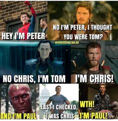 For people who love Marvel and memes. They go together like ice cream and sprinkles 😊 Also for people who are bored and want to laugh (I do not own any of the. Avengers Humor, Marvel Avengers Movies, Funny Marvel Memes, Dc Memes, The Avengers, Marvel Actors, Disney Marvel, Marvel Heroes, Funny Comics