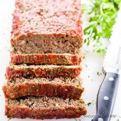 Low Carb Meatloaf (Paleo, Gluten-Free) via @FoodYub - #KeepOnCooking