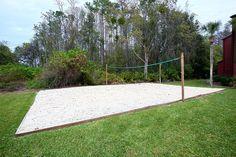Beach volleyball court... I wish I had one in my backyard