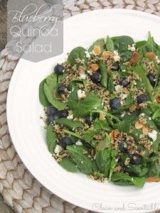Clean and Scentsible: Super healthy Blueberry Quinoa Salad.   It makes the perfect light summertime meal or healthy starter salad and is so ...