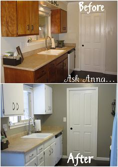 1000 images about diy home remodel on pinterest 70s Revamp old kitchen cabinets
