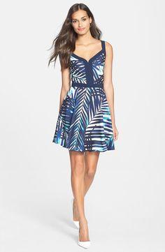 'Rufina' Georgette Fit & Flare Dress
