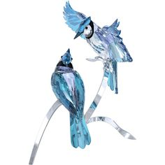 Blue Jays - Figurines - The stunning birds perch on a beautiful silver-tone metal display. Not a toy. Not suitable for children under Approximate size: 11 x 10 x 9 inch Article no. Crystal Pen, Crystal Gifts, Swarovski Crystal Figurines, Swarovski Crystals, American Indian Quotes, Bird Perch, Glass Figurines, Glass Animals, Cute Disney