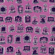 Penny Arcade Quilting Fabric - Petunia
