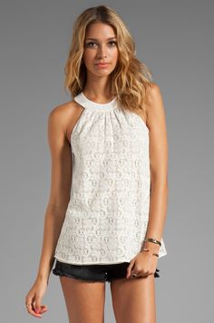 Testament Crochet Halter Top in White | REVOLVE