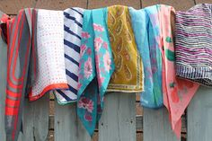 A Little Bit of Everything - Vera Scarves on the Fence
