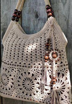 48 Glam Crochet Bags Pattern Ideas for 2020 Women Crochet! Beau Crochet, Mode Crochet, Crochet Diy, Crochet Tote, Crochet Handbags, Crochet Purses, Crochet Stitches, Crochet World, Crochet Ideas