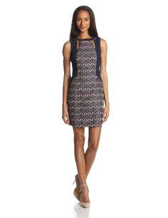 Trina Turk Women's Nicka Jacquard Printed Dress, Multi, 6 only $179 (was $298) #trinaturk #geo #dress