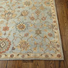 Want floor rugs? Shop Ballard Designs for the best in floor rugs, bedroom rugs, oriental rugs and more. Find the perfect rug for any style or space today! Room Rugs, Rugs In Living Room, Blue Grey Walls, Persian Motifs, Thing 1, Hand Tufted Rugs, Magic Carpet, Ballard Designs, Wool Area Rugs