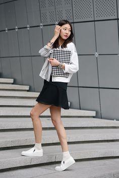 koreanmodel: Streetstyle: Han Hye Jin at Seoul Fashion Week shot by Kim Jin Yong