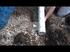 How To Install Perforated Pipe, French Drain for Do It Yourself Job - How and Why Holes Point Down when installing a French Drain (Gravel Perforated Pipe - Yard Drain) SEE HOW A FRENCH DRAIN REALLY WORKS. Apple Drains Drainage