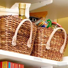 Zoning your pantry helps you see what food you have, what you need to restock, and where the groceries belong.