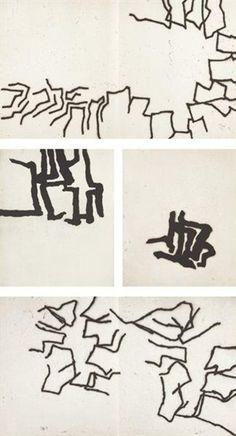 Eduardo Chillida - Set of 9: Le Chemin des Devins... on MutualArt.com