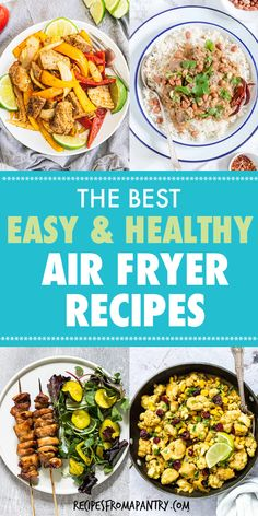 Looking for the best Healthy Air Fryer Recipes that are tasty, quick & easy to make? Each of the easy air fryer recipes in this collection are under 425 kcal, with most less than 350 kcal! But you'd never know it, since the air fryer recipes are SO delicious. Include chicken recipes, pork recipes, vegetable recipes, meal prep etc. Eating healthy has never tasted so good! #airfryer #airfryerrecipes #healthyrecipes #easyairfryerrecipes #wwrecipes #airfryrecipes #airfriedfood #airfry #air-fryer Air Fry Recipes, Air Fryer Dinner Recipes, Air Fryer Recipes Easy, Lunch Recipes, Easy Dinner Recipes, Real Food Recipes, Breakfast Recipes, Vegetarian Recipes, Healthy Recipes