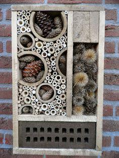 Insect hotel, handmade by GreenART Erica, Bug hotel, Insectenhotel, garden art