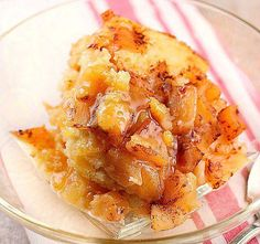 Crock Pot Apple Pudding Cake