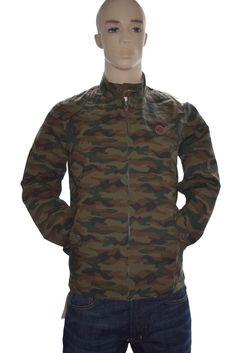 Pretty Green Men's Camouflage Ripstop Harrington Jacket Medium BNWT #PrettyGreen #BomberHarrington