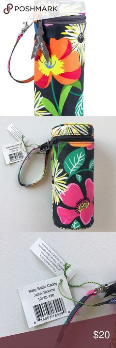 Vera Bradley Diaper Caddy Jazzy Blooms NWT Brand new with tags Vera Bradley Diaper Caddy Pacifier Pod in Jazzy Blooms. Insulated! Authentic tic and sold out! Discontinued print. Vera Bradley Accessories