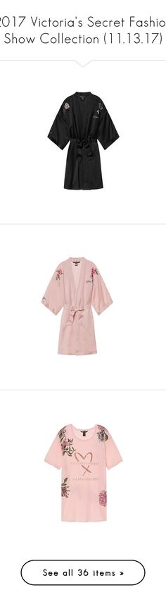 """2017 Victoria's Secret Fashion Show Collection (11.13.17)"" by glitterandcouture ❤ liked on Polyvore featuring intimates, robes, victoria's secret, sexy robe, victoria secret robe, victoria secret bathrobe, bath robes, sexy dressing gown, tops and t-shirts"