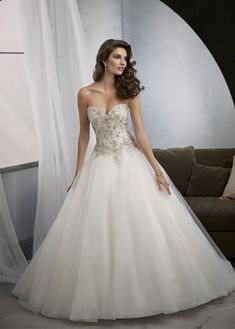 Wedding Dresses Simple, Elegant Tulle Sweetheart Neckline Natural Waistline Ball Gown Wedding Dress With Embroidery, Shop discount wedding dresses and sales. Don't miss out, shop clearance wedding dresses before they're gone! Sheath Wedding Gown, Wedding Dress Organza, 2016 Wedding Dresses, Affordable Wedding Dresses, Sweetheart Wedding Dress, Wedding Dresses Plus Size, Bridal Dresses, Wedding Gowns, Dresses 2016