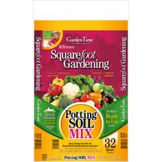 Amazing Pre Made Square Foot Gardening Soil Mix: Garden Time 32 Quart Potting Soil