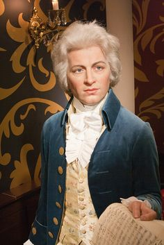 Mozart wax figure at Madame Tussauds
