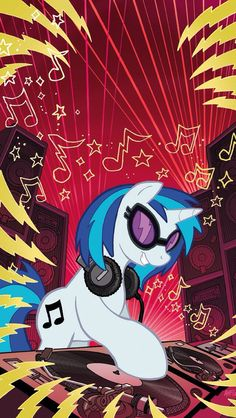 Vinyl scratch - Yeah, I have this on a t-shirt :3