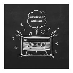 mukkeman's weekender // Blackboard Wall, Chalkboard Drawings, Chalkboard Designs, Chalkboard Art, Music Wall, Art Music, Mockups Gratis, Funny Images With Quotes, Music Doodle