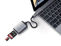 Satrchi has released its latest aluminum USB-C micro/SD card reader. Just need a simple way to read your data from memory cards on your USB-C equipped laptop in Usb Gadgets, Japanese Architecture, Mobile Accessories, Card Reader, Sd Card, Usb Flash Drive, Personalized Items, Cards, Stuff To Buy