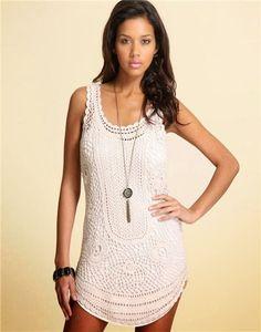 Olha só meninas!!! Encontrei esse vestido na web e ele serve para o verão que está chegando, que tal??? Bora fazer???                      ...