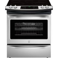 Embrace Your Inner Gourmet Chef with the Kenmore 42542 Stainless Steel Electric RangeFrom gourmet recipes to simple family-style d. Slide In Range, New Stove, Electric Oven, Oven Range, Four, Gourmet Recipes, Kitchen Appliances, Kitchens, Canada