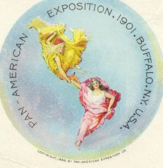 Panamerican exposition Buffalo 1901 #map #cartography #allegory Could anyone mix it with the kiss of the oceans?