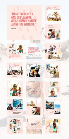 Radiate chic and chill on your Instagram feed now! It's good vibes only with the Cali Social Feed Template. This beautifully chill set of 30 carefully curated and fully customizable Canva Templates just exudes the Cali aesthetic. Enhance your brand with these cohesive, dreamy, unique social feed templates that will engage, influence, and inspire your audience with ease.