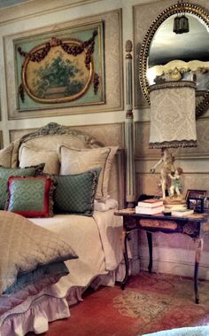 French style dream bedroom by Leodowellinteriors.com. #interiordesignerscharlotte