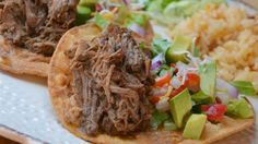 In this Chipotle® copycat recipe, beef is slow-cooked barbacoa-style - with garlic, lime, and chipotle chile peppers - and then shredded. Slow Cooker Recipes, Crockpot Recipes, Cooking Recipes, Hamburger Recipes, Steak Recipes, Shredded Beef Recipes, Mexican Food Recipes, Ethnic Recipes, Mexican Entrees