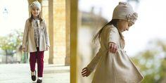 #kidsclothing ruby Milano leggings + indigo/grey printed jersey T-shirt + beige wool jersey jacket