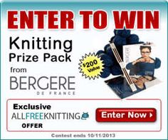 Enter to win a fabulous prize pack from Bergere de France with AllFreeKnitting. Knit up a gorgeous sweater with this yarn and pattern prize, priced at $200!
