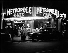 "Metropole Cafe, NYC (1948) was a jazz club that operated from the mid-1950s through 1965. Located at 7th Avenue and 48th Street, It was primarily noted, in the bebop and progressive jazz era, as being a venue for traditional musicians. Henry ""Red"" Allen, a New Orleans veteran of many bands including King Oliver's and Fletcher Henderson's, led the house band there from 1954 on."