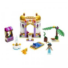 The Disney Princess Jasmine's Exotic Palace playset from LEGO is a 143-piece set that brings to life a setting of the Disney classic Aladdin.