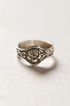 Anthropologie - Engraved Rose Ring