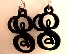 Items similar to Recycled Vinyl Record Triangular Earrings on Etsy