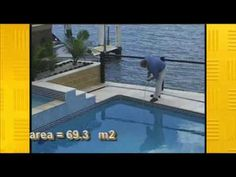 How to calculate the volume of water in a pool.