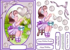 Lovely Little bubble blowing girl on Craftsuprint - Add To Basket!