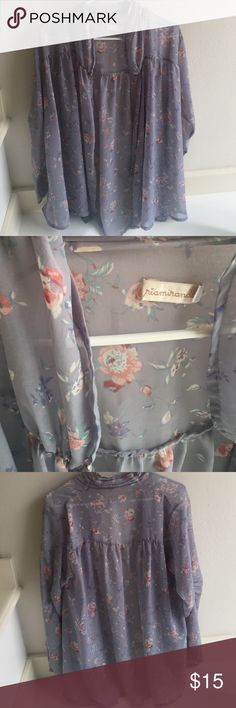 Final sale ❤️ Floral sheer cardigan Floral - romantic Tops Blouses