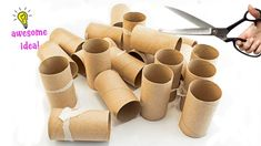 7 Brilliant Uses for Empty Tissue/Cardboard Tubes That Are Straight Up G... Hobbies And Crafts, Fun Crafts, Diy And Crafts, Crafts For Kids, Arts And Crafts, Paper Crafts, Cardboard Rolls, Cardboard Tubes, Baby Boy Cookies