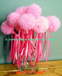 Party Favors 12 twelve Magical Pom Pom Fairy by rainbowstardesigns, $72.00