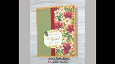 Timeless Tropical Birthday Card with Rainbow Stamping - YouTube Glue Dots, Big Shot, Embossing Folder, Stamping, Card Stock, Birthday Cards, Weaving, Tropical, Rainbow