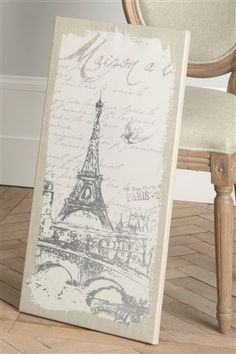 Eiffel Tower on Canvas by Little L